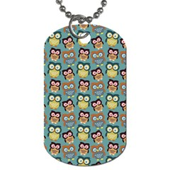 Owl Eye Blue Bird Copy Dog Tag (Two Sides)