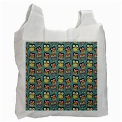 Owl Eye Blue Bird Copy Recycle Bag (One Side)