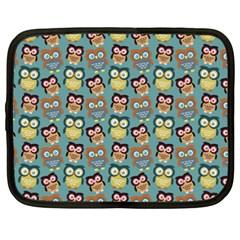 Owl Eye Blue Bird Copy Netbook Case (XXL)