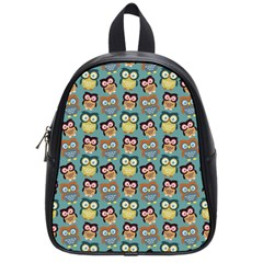 Owl Eye Blue Bird Copy School Bags (Small)