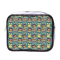 Owl Eye Blue Bird Copy Mini Toiletries Bags