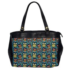 Owl Eye Blue Bird Copy Office Handbags