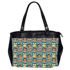 Owl Eye Blue Bird Copy Office Handbags (2 Sides)