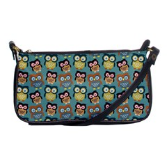 Owl Eye Blue Bird Copy Shoulder Clutch Bags