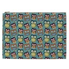 Owl Eye Blue Bird Copy Cosmetic Bag (XXL)