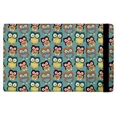Owl Eye Blue Bird Copy Apple iPad 2 Flip Case