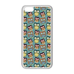 Owl Eye Blue Bird Copy Apple iPhone 5C Seamless Case (White)