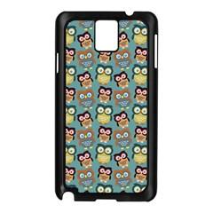 Owl Eye Blue Bird Copy Samsung Galaxy Note 3 N9005 Case (Black)