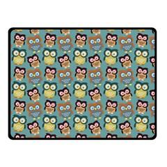 Owl Eye Blue Bird Copy Double Sided Fleece Blanket (Small)