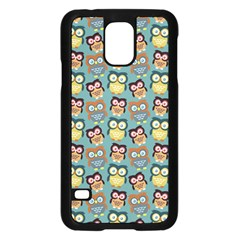Owl Eye Blue Bird Copy Samsung Galaxy S5 Case (Black)