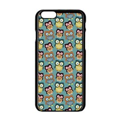 Owl Eye Blue Bird Copy Apple iPhone 6/6S Black Enamel Case