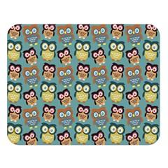 Owl Eye Blue Bird Copy Double Sided Flano Blanket (Large)