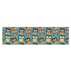 Owl Eye Blue Bird Copy Satin Scarf (Oblong)