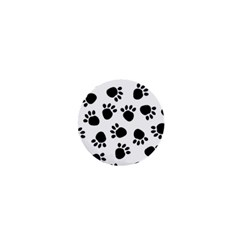 Paws Black Animals 1  Mini Magnets