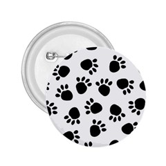 Paws Black Animals 2.25  Buttons