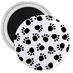 Paws Black Animals 3  Magnets