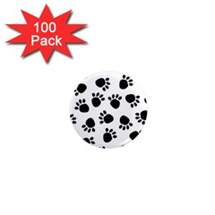 Paws Black Animals 1  Mini Magnets (100 pack)