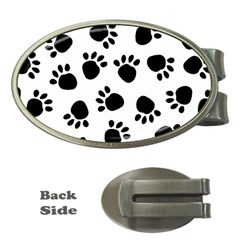 Paws Black Animals Money Clips (Oval)
