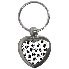 Paws Black Animals Key Chains (Heart)