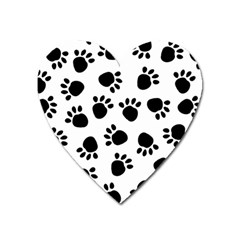 Paws Black Animals Heart Magnet