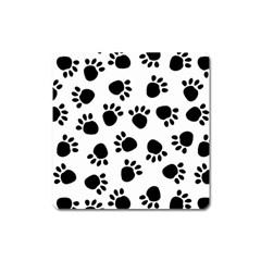 Paws Black Animals Square Magnet