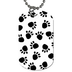 Paws Black Animals Dog Tag (One Side)