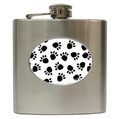 Paws Black Animals Hip Flask (6 oz)