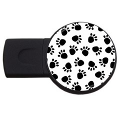 Paws Black Animals USB Flash Drive Round (2 GB)