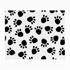 Paws Black Animals Small Glasses Cloth (2-Side)