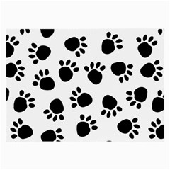 Paws Black Animals Large Glasses Cloth (2-Side)