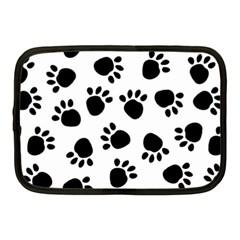 Paws Black Animals Netbook Case (Medium)