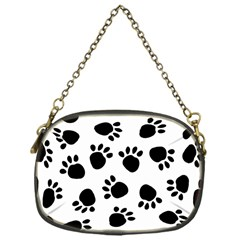 Paws Black Animals Chain Purses (One Side)