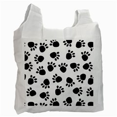 Paws Black Animals Recycle Bag (One Side)
