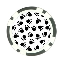 Paws Black Animals Poker Chip Card Guards (10 pack)