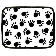 Paws Black Animals Netbook Case (XXL)