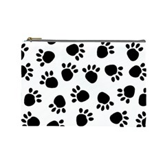 Paws Black Animals Cosmetic Bag (Large)