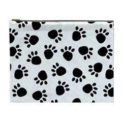 Paws Black Animals Cosmetic Bag (XL)