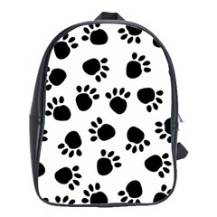Paws Black Animals School Bags(Large)