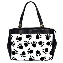 Paws Black Animals Office Handbags (2 Sides)