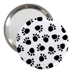 Paws Black Animals 3  Handbag Mirrors