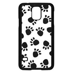 Paws Black Animals Samsung Galaxy S5 Case (Black)
