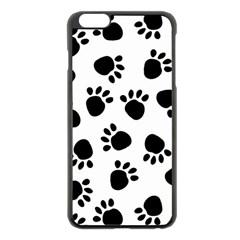 Paws Black Animals Apple iPhone 6 Plus/6S Plus Black Enamel Case