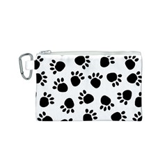 Paws Black Animals Canvas Cosmetic Bag (S)