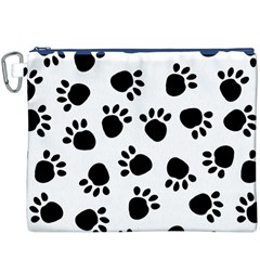 Paws Black Animals Canvas Cosmetic Bag (XXXL)