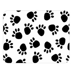 Paws Black Animals Double Sided Flano Blanket (Large)