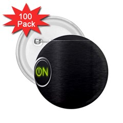 On Black 2.25  Buttons (100 pack)