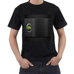 On Black Men s T-Shirt (Black) (Two Sided)
