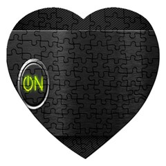 On Black Jigsaw Puzzle (Heart)