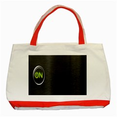 On Black Classic Tote Bag (Red)