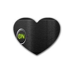 On Black Heart Coaster (4 pack)
